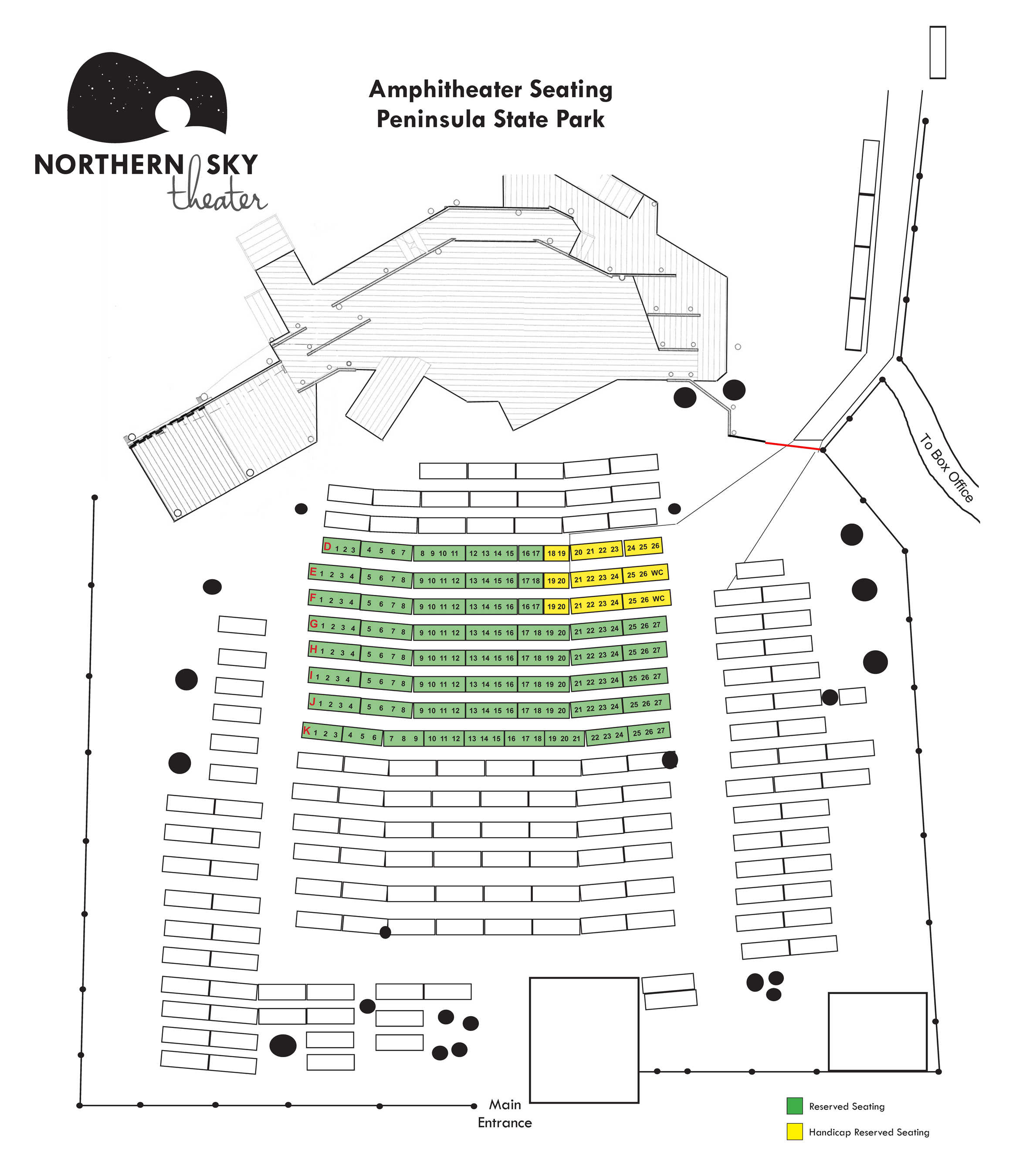 Seating Charts - Northern Sky Theater
